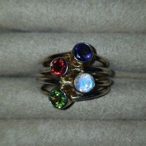 Jewelry - Peridot, Garnet, Moonstone and Sapphire
